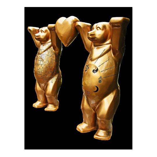 Teddy Bears and Heart Postcard