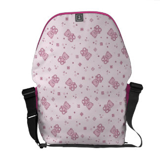 Teddy bears background Pink Commuter Bag