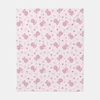 Teddy bears background Pink Fleece Blanket
