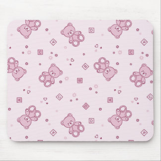 Teddy bears background Pink Mousepad
