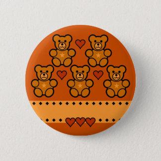 Teddy Bears button, customize 6 Cm Round Badge