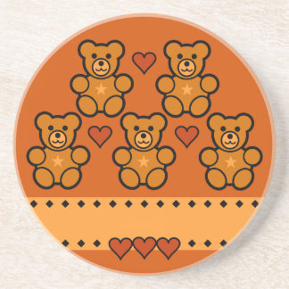 Teddy Bears coaster, customize Beverage Coaster