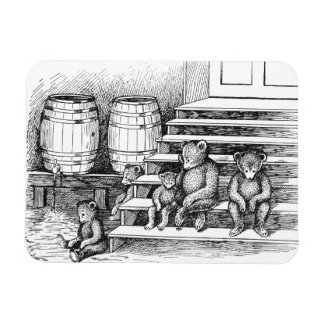 Teddy Bears Have Drunk Too Much Cider Rectangular Photo Magnet