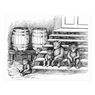 Teddy Bears Have Drunk Too Much Cider Postcard