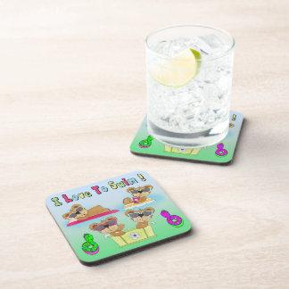 Teddy Bears I Love To Swim Drink Coaster Set (6)