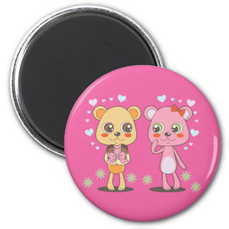 Teddy Bears in Love 6 Cm Round Magnet
