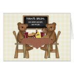 Teddy Bears Out to Lunch Greeting Cards