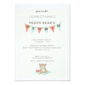 Teddy Bear's Picnic 13 Cm X 18 Cm Invitation Card