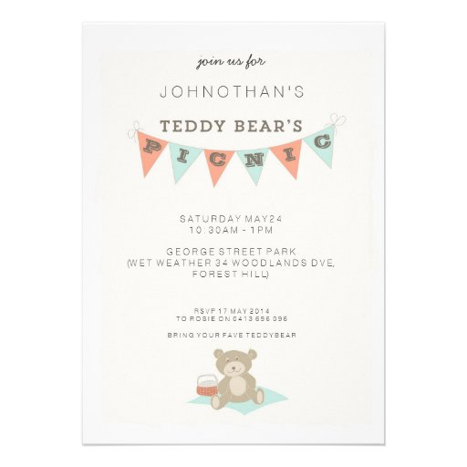 Teddy Bear's Picnic Card