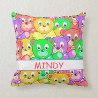 TEDDY BEARS PILLOW, Cute & Bright Kids Pillow