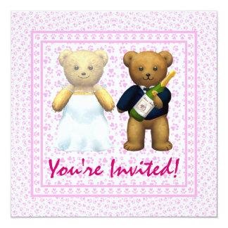 ,Teddy Bears pink Wedding Invite - Invitation