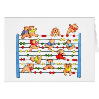 Teddy Bears Playing Abacus - Kid's Greeting card