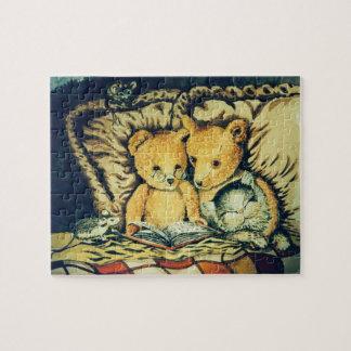 Teddy Bears Reading Jigsaw Puzzle