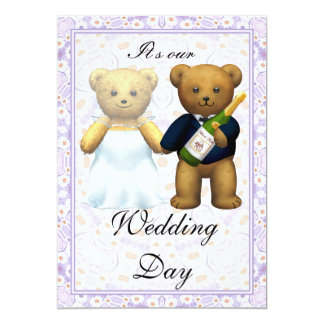 ,Teddy Bears tall Wedding Invite - Invitation