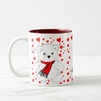 Teddy Bears Trio Two-Tone Coffee Mug