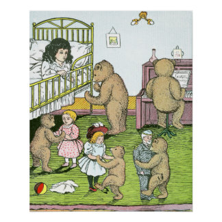 Teddy Bears Waltz with Dolls Poster