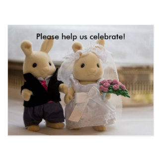 Teddy Bears Wedding card Postcard