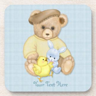 Teddy Boy Easter Beverage Coaster
