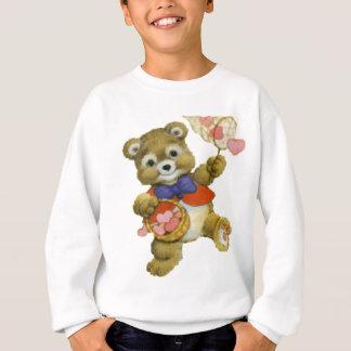 Teddy Catching Valentine Hearts Sweatshirt