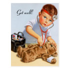 Teddy Checkup Postcard