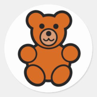 Teddy Classic Round Sticker