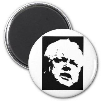 """""""Teddy"""" Edward Kennedy 6 Cm Round Magnet"""