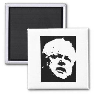 """""""Teddy"""" Edward Kennedy Square Magnet"""