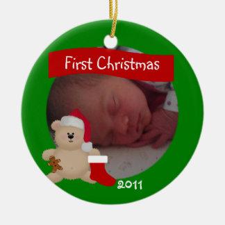 Teddy First Christmas Ornament