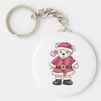 Teddy in Santa Suit Keychain