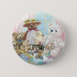 Teddy it up! 6 cm round badge