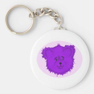 Teddy Basic Round Button Key Ring