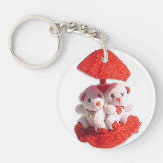 teddy Single-Sided round acrylic key ring