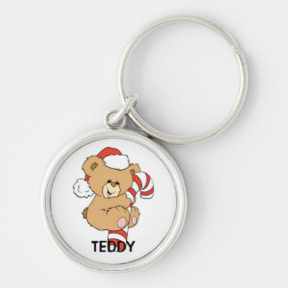 teddy Silver-Colored round key ring