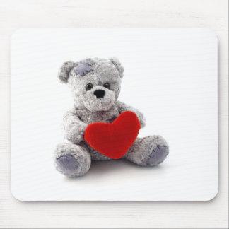 Teddy love mouse mat