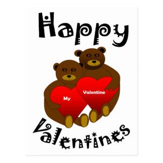 Teddy Love Postcard