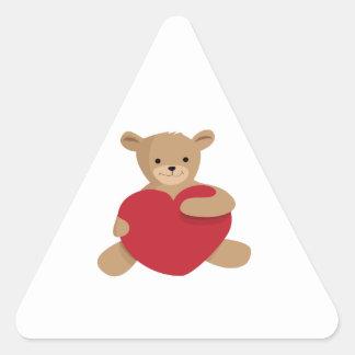 Teddy Love Triangle Sticker