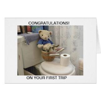 Teddy On Potty Greeting Card