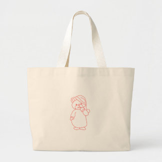 Teddy Redwork Jumbo Tote Bag