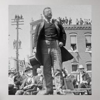 Teddy Roosevelt Addresses Crowd in 1905 Vintage Posters