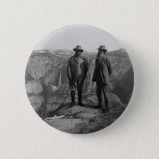 Teddy Roosevelt and John Muir  in Yosemite 6 Cm Round Badge