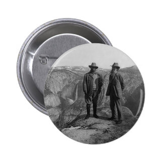 Teddy Roosevelt and John Muir  in Yosemite 6 Cm Round Badge