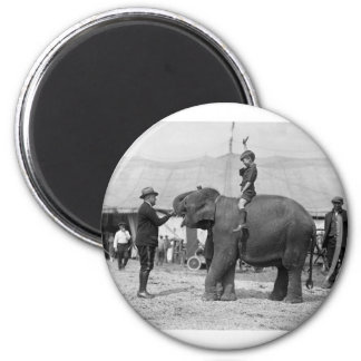 Teddy Roosevelt at the Circus: 1924 Magnet