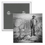 Teddy Roosevelt Glacier Point Yosemite Valley CA Pinback Button