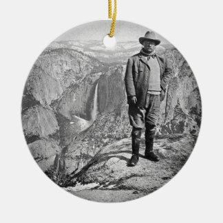 Teddy Roosevelt Glacier Point Yosemite Valley CA Christmas Ornament