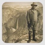 Teddy Roosevelt Glacier Point Yosemite Valley Square Sticker