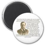 Teddy Roosevelt Quote 6 Cm Round Magnet