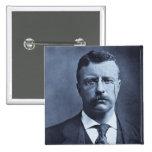 Teddy Roosevelt Vintage Glass Magic Lantern Slide Pinback Buttons