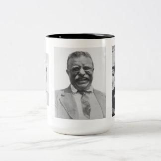 Teddy Roosevelt's Life Two-Tone Coffee Mug