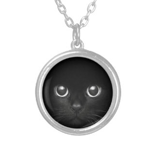 Teddy the Cat Round Pendant Necklace