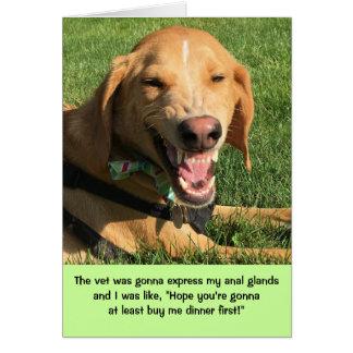 Teddy the Spaz Man Funny Birthday Card Anal Glands